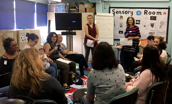 Mums and pregnant women at a Mindful Mums Wellbeing Group in Bromley borough