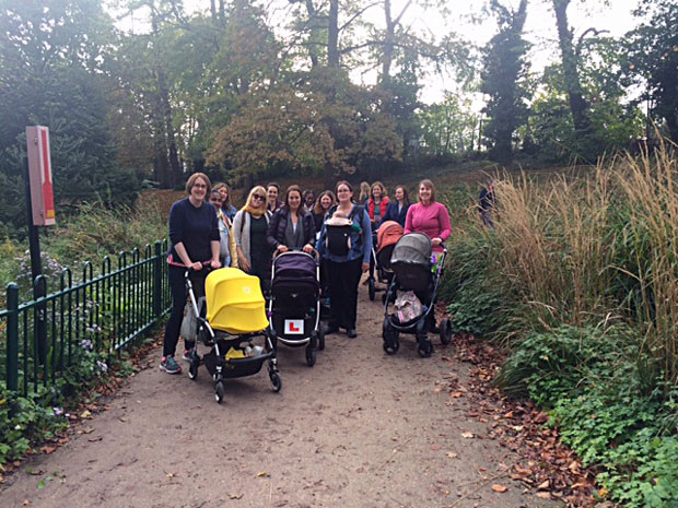 Mindful Mums Walking Group in Crystal Palace Park - October 2017