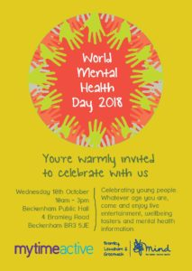 World Mental Health Day 2018 Bromley flyer