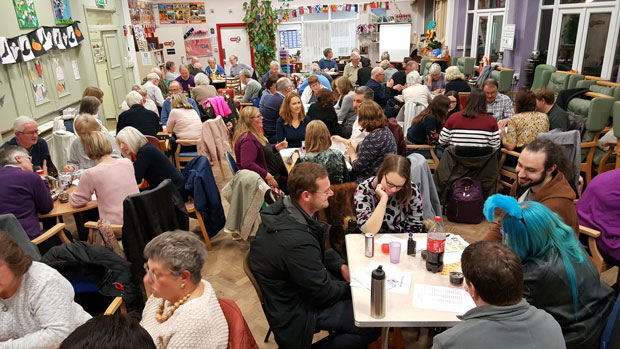 People enjoying the November 2018 BLG Mind fundraising quiz night held at MindCare Dementia Support in Beckenham