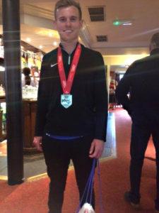 Jack White with his London Marathon medal