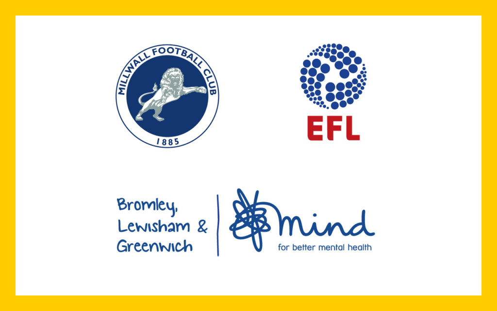 Millwall F.C., English Football League and BLG Mind logos